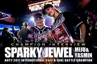 CHAMPION INTERVIEW SPARKY JEWEL [MIJU&YASMIN]
